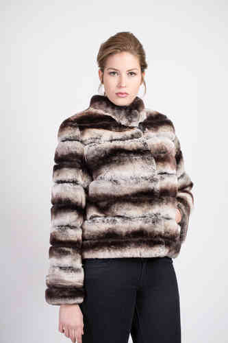 CHAQUETA REX CHINCHILLA